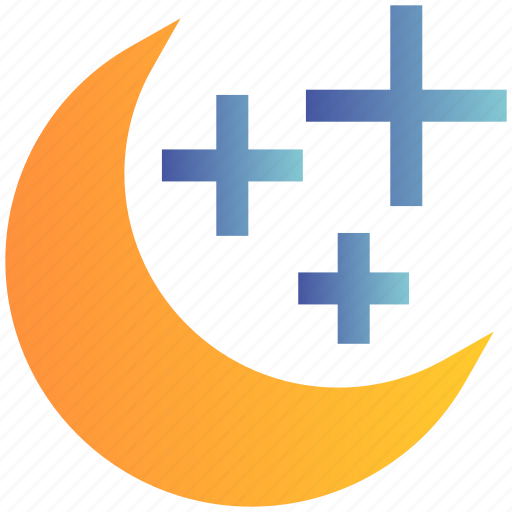 Christmas, decoration, moon, moon stars, stars, weather icon - Download on Iconfinder