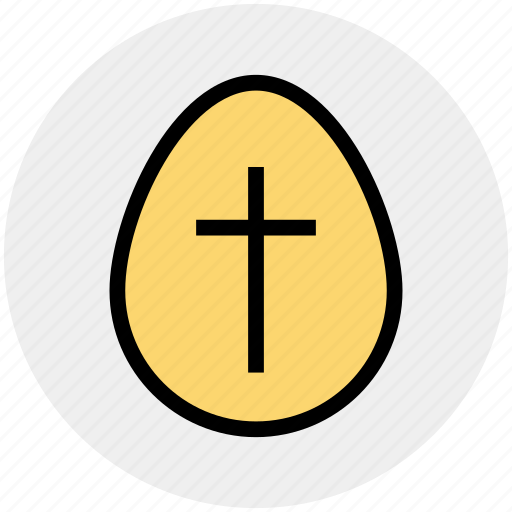 christmas, cross sign, easter, egg, holiday icon