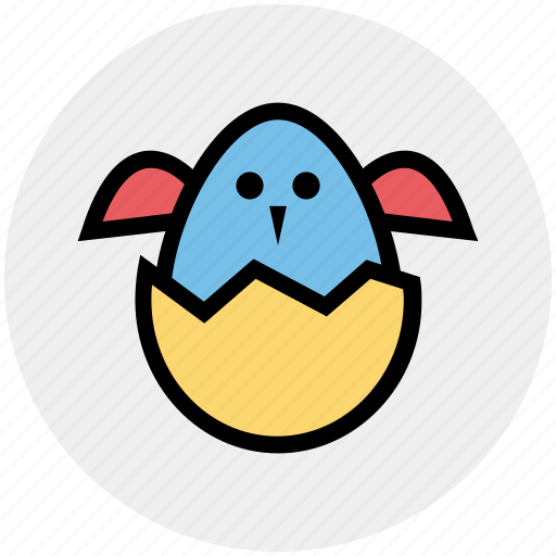 chick, chick in egg, easter, egg, spring icon