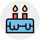 birthday, cake, candles, celebration, christmas, easter, festival icon