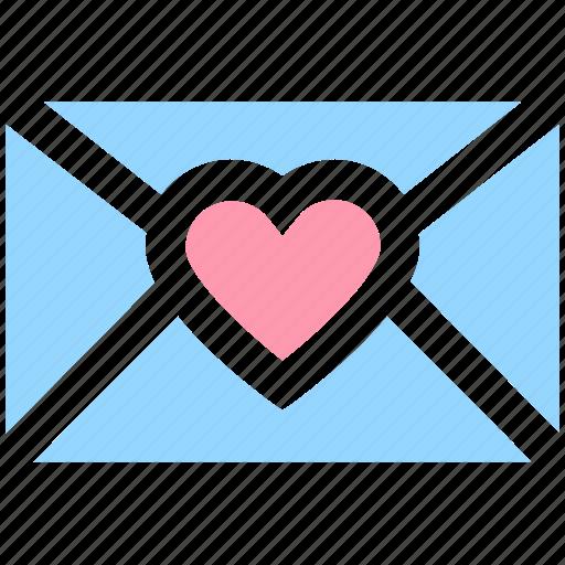 christmas, envelope, heart, letter, love icon