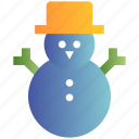 christmas, decoration, easter, hat, snow, snowman, winter