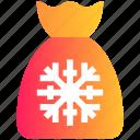 bag, christmas, christmas bag, claus, decoration, gift, santa