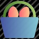 bucket, christmas, easter, egg, holiday