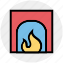 chimney, christmas, easter, fire, fireplace, heater, warm icon