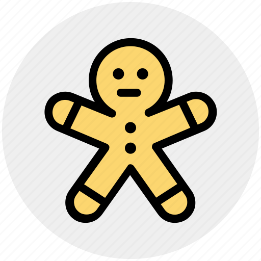 candy, christmas, cookie, easter, gingerbread, man icon