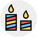 candles, christmas, easter, light, xmas icon