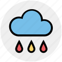 rainy day, spring, rain, forecast, weather, christmas, cloud icon