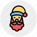 christmas, easter, santa avatar, santa claus face, santa clous, santa face icon