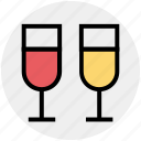 drink, glass, beverage, wine, christmas, calabration icon