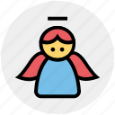 holy, angel, christmas, fairy, easter, spirit icon
