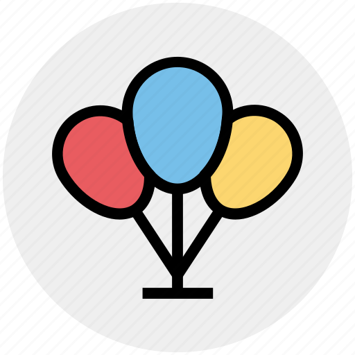 balloons, celebration, christmas, decoration, easter, party icon