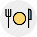 christmas, cook, eat, fork, kitchen, knife, plate icon