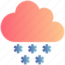 christman, cloud, decoration, snow, snowing, winter