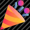 celebration, christmas, decoration, elements, party, popper
