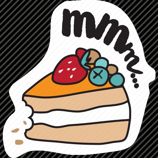 cake, christmas, emoji, food, networking, new year, social media icon