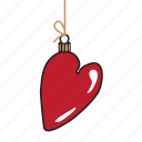 christmas, emoji, emoticons, heart, networking, new year, social media icon