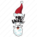 christmas, emoji, emoticons, networking, new year, santa claus, social media icon