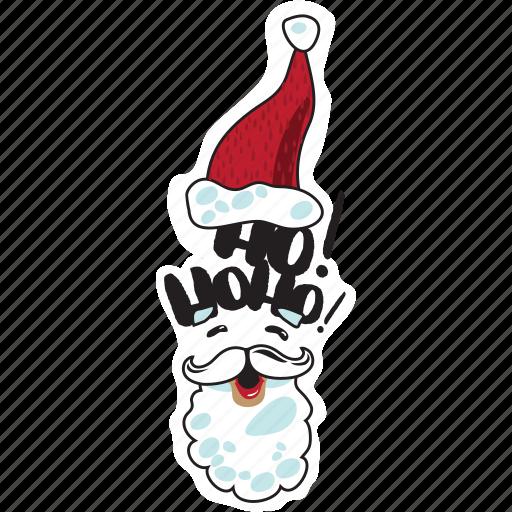 christmas, emoji, emoticons, networking, new year, santa claus, social media icon