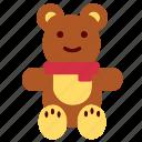 bear, christmas, teddy icon