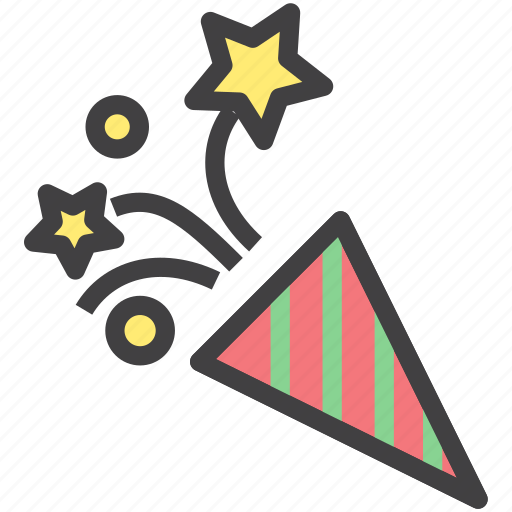 christmas, fireworks, star icon