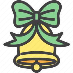 bell, bow, christmas, decoration, ornament icon