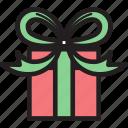 bow, box, christmas, decoration, gift, ornament
