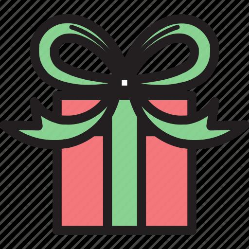 bow, box, christmas, decoration, gift, ornament icon