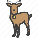 christmas, cute, deer, reindeer