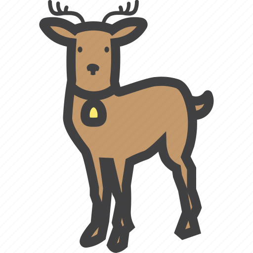 christmas, cute, deer, reindeer icon
