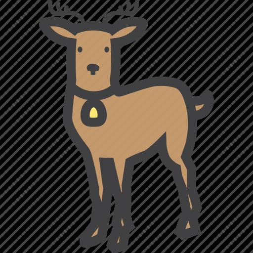 christmas, cute, deer, reindeer icon