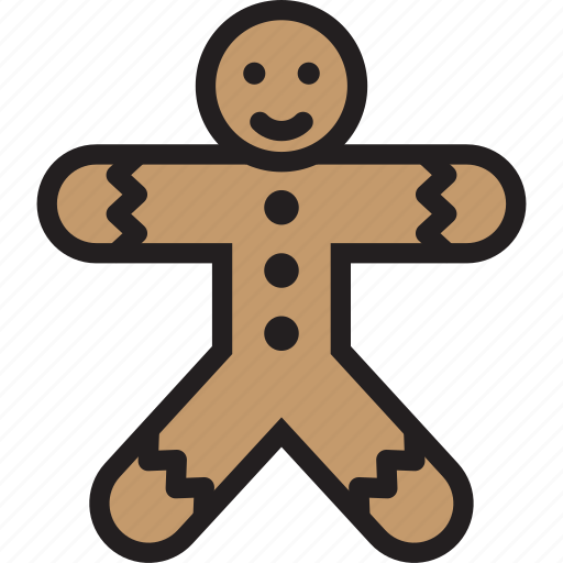 christmas, cookie, gingerbreadmen icon