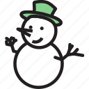 christmas, decoration, hat, snowman, winter, xmas icon