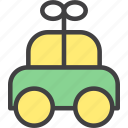 car, christmas, toy, wind up icon