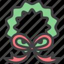 bow, christmas, decoration, holly, mistletoe, ornament, wreath
