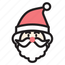 christmas, cute, hat, man, santa, xmas icon