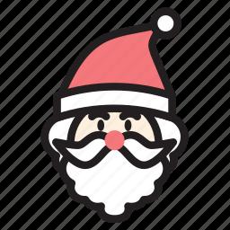 christmas, cute, hat, man, santa, xmas icon