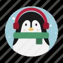 penguin, winter, christmas