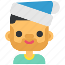 avatar, christmas, hat, holiday, man, winter, xmas icon