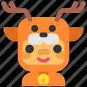 avatar, christmas, costume, deer, winter icon