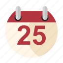 birthday, calendar, date, holiday, winter, xmas icon