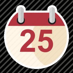 birthday, calendar, date, holiday, winter, xmas icon