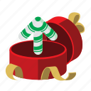celebrate, gift, open, present, up, upload, xmas icon