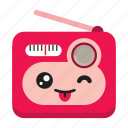 communication, cute, fm, radio, weather icon