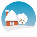 clear, cold, cozy, snowy, weather icon