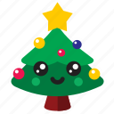 christmas, cute, decorate, kawaii, tree icon