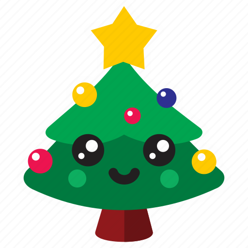 Decorate Holiday Kawaii Tree Xmas Icon