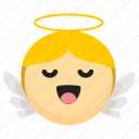 angel, announce, caroler, christmas, heaven, sing icon