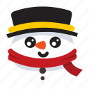christmas, cold, frosty, snow, snowman icon