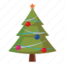 ball, cartoon, christmas, decoration, ornament, star, tree icon